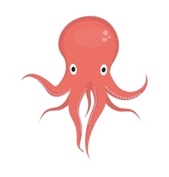 Octopus icon logo element flat style isolated on vector