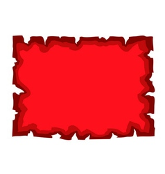 Parchment old paper blank document red vector