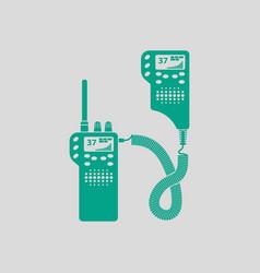 Police radio icon vector