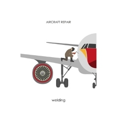 Repair and maintenance aircraft vector image vector image