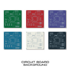 Set of circuit board design vector