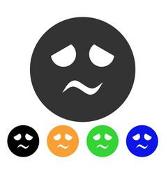 Trouble smiley icon vector