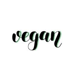 Vegan brush lettering vector