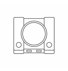 Video game console icon outline style vector