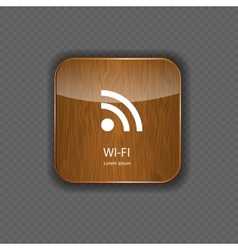 Wi-fi wood application icons vector image vector image