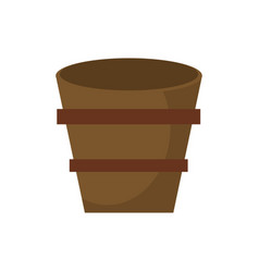 Wooden bucket empty image vector