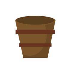 wooden bucket empty image vector image