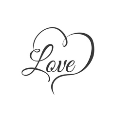 Heart text love shape letter icon graphic vector