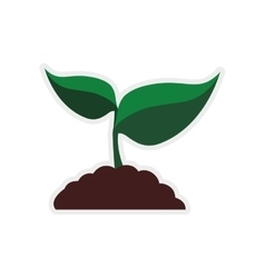 Leaf earth plant green nature ecology icon vector