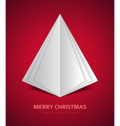 Christmas tree from paper background vector image