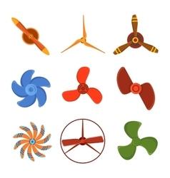 Propeller fan vector image