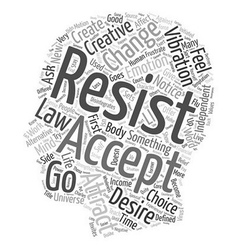 Create Resistance or Creative Acceptance text vector image