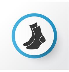 Socks icon symbol premium quality isolated half vector