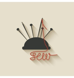 Sewing needles background vector