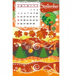 calendar september vector image