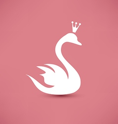 Swan symbol beauty concept icon vector