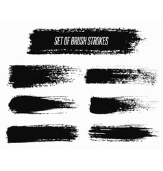 Wide brush strokes vector