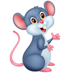 Happy mouse cartoon vector