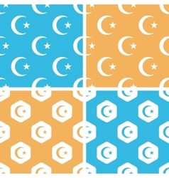 Turkey symbol pattern set colored vector