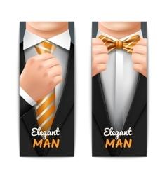 Elegant Man Banners Set vector image