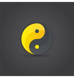 Yin and yang sign vector