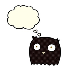 Cartoon owl with thought bubble vector