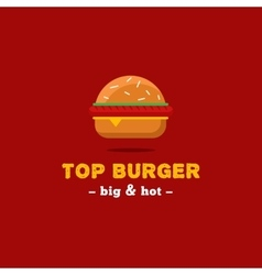 Bright burger restaurant logo brand sign vector