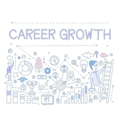 Career growth infographics vector