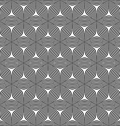 Seamless hexagonal curved line pattern vector
