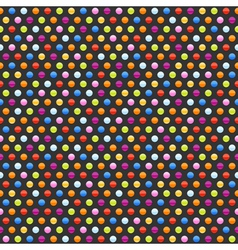 seamless background pattern with multicolored dots vector image