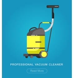 Flat vacuum cleaner icon with long shadows vector