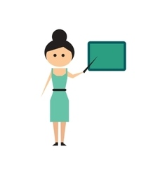 Flat web icon on white background woman teacher vector