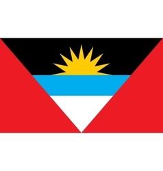 Antigua and Barbuda flag image vector image