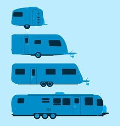 Caravan Silhouette vector image