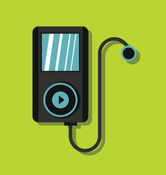 Audio player in flat style with shadow vector