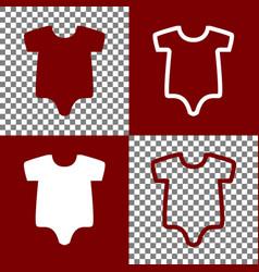 baby cloth bordo and white vector image