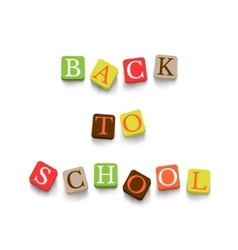 Back to school poster with blocks vector