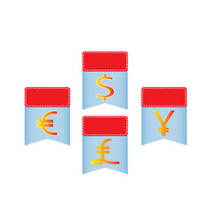 banners with money symbol vector image vector image