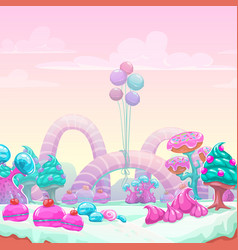 Beautiful fantasy sweet world background vector