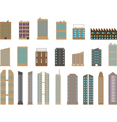 Buildings and skyscrapers vector image vector image