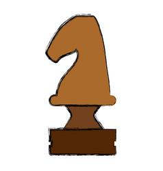 chess chorse piece vector image vector image