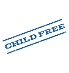 Child free watermark stamp vector