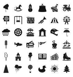 Children toy icons set simple style vector