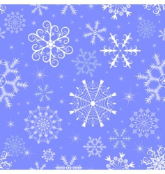 Christmas blue seamless pattern vector image vector image