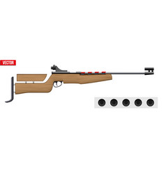Classic biathlon rifle and target vector