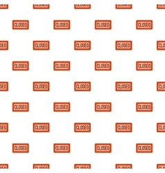 Closed sign pattern cartoon style vector
