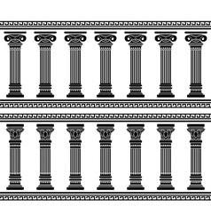 colonnade stencil vector image
