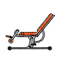 Color drawing pencil cartoon gym machine for vector