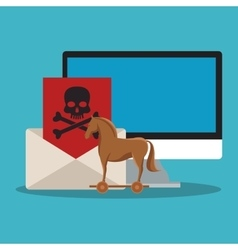 Computer envelope and security system design vector