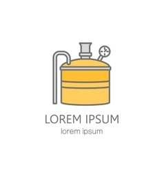 Copper distiller line logo vector image